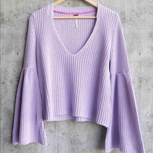 Free people damsel cable knit pullover